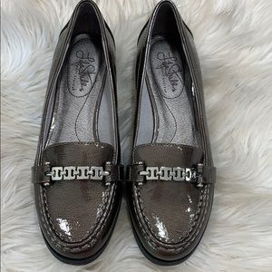 LIFE STRIDE ABELLA Loafers Gunmetal Grey 6